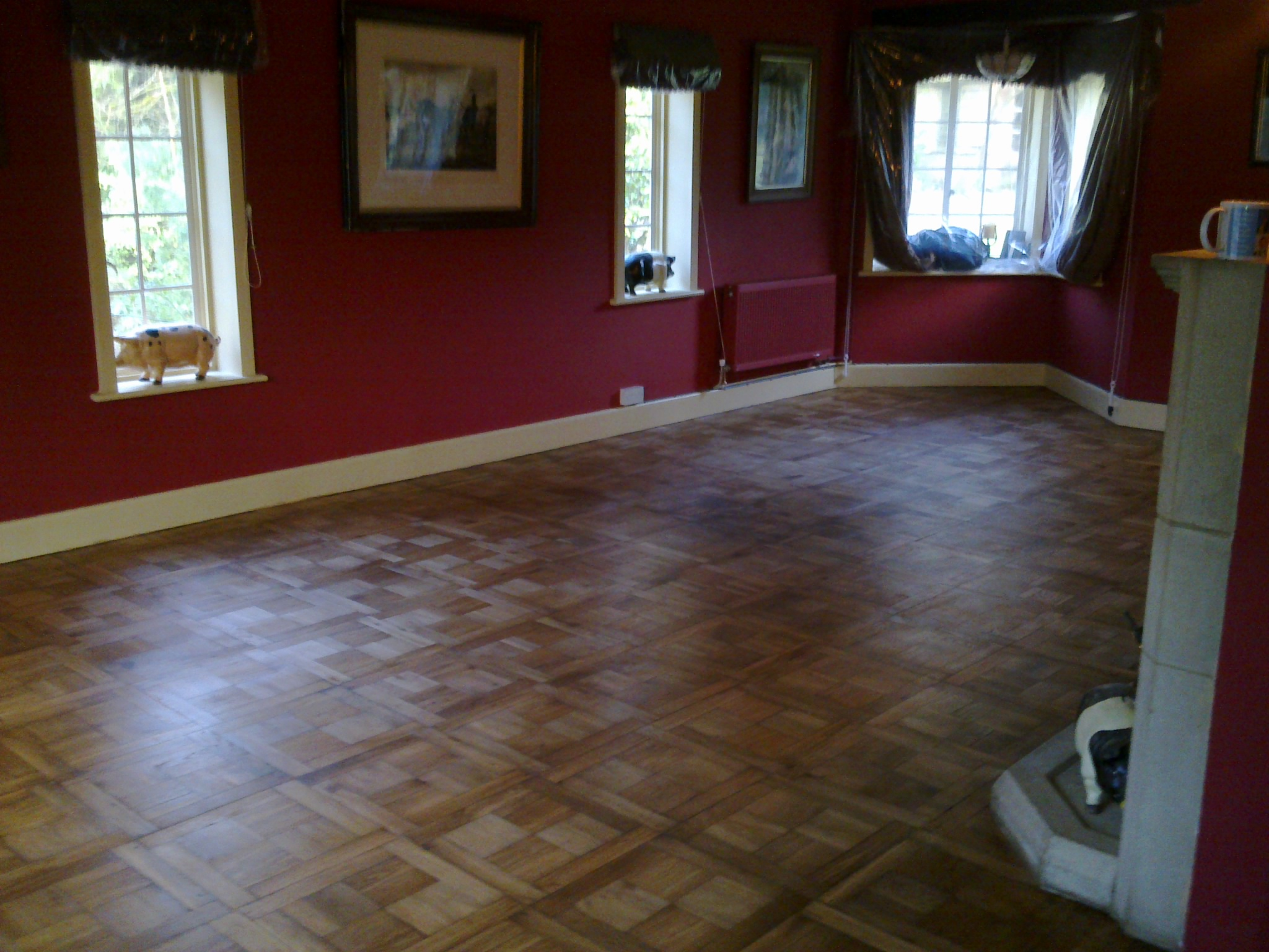 parquet floor staining