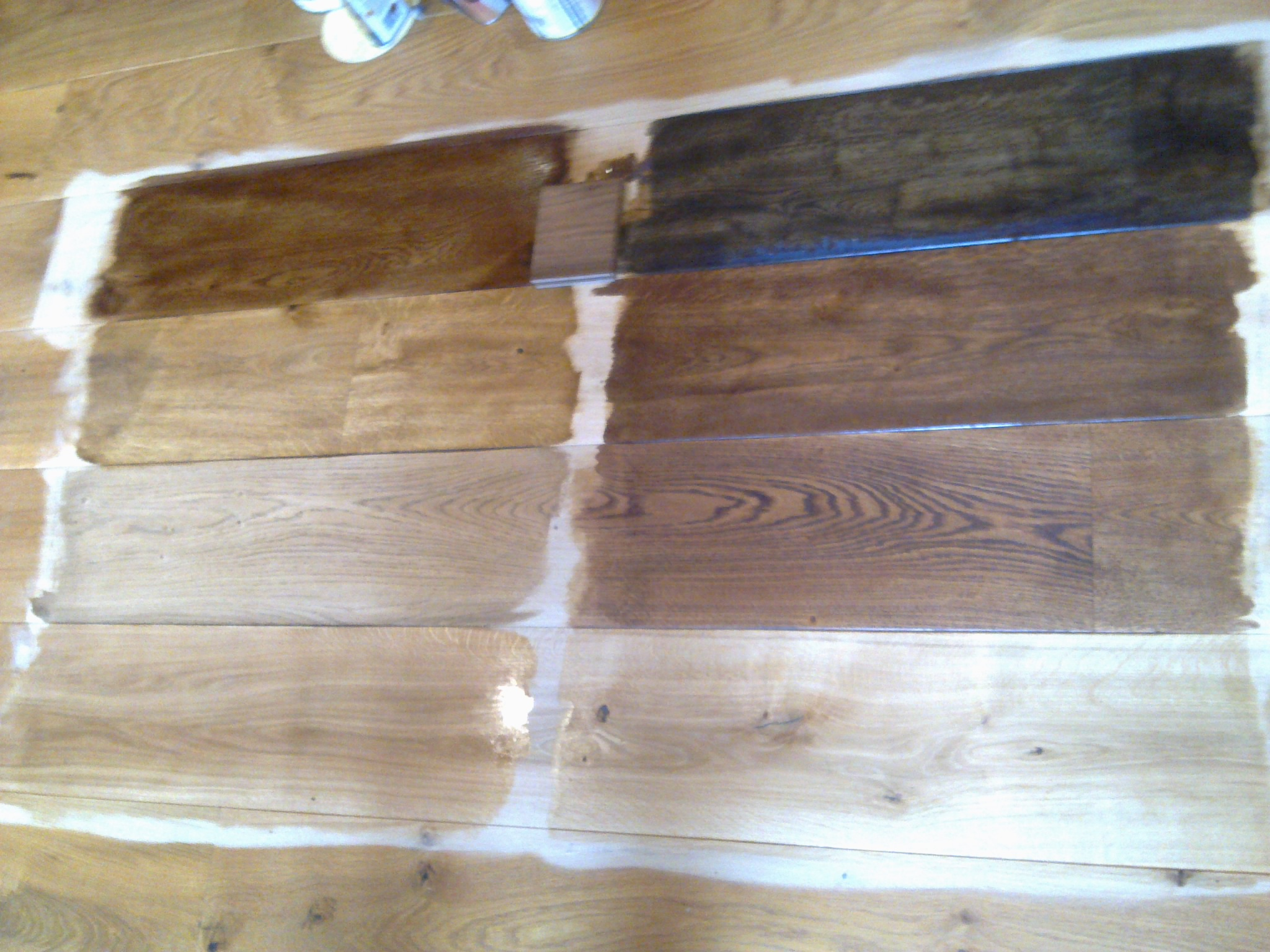 oak floor staining