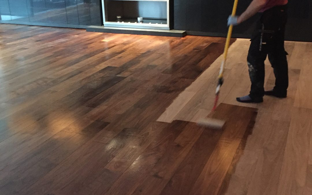 Walnut Floor Sanding And Oiling