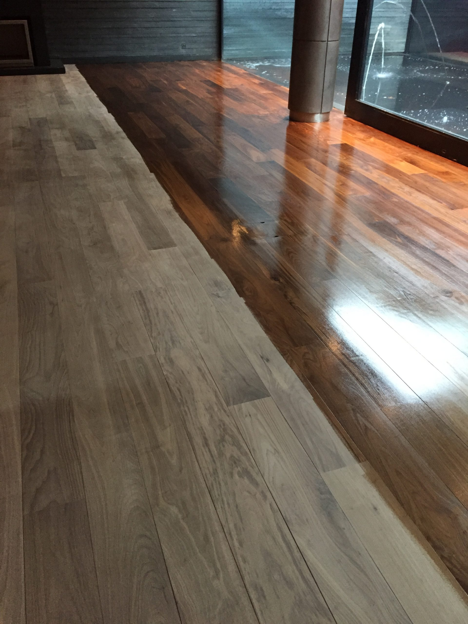 antique oak flooring after sanding