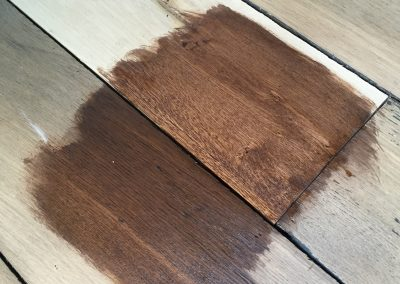 colour matching of old and new oak floorboards